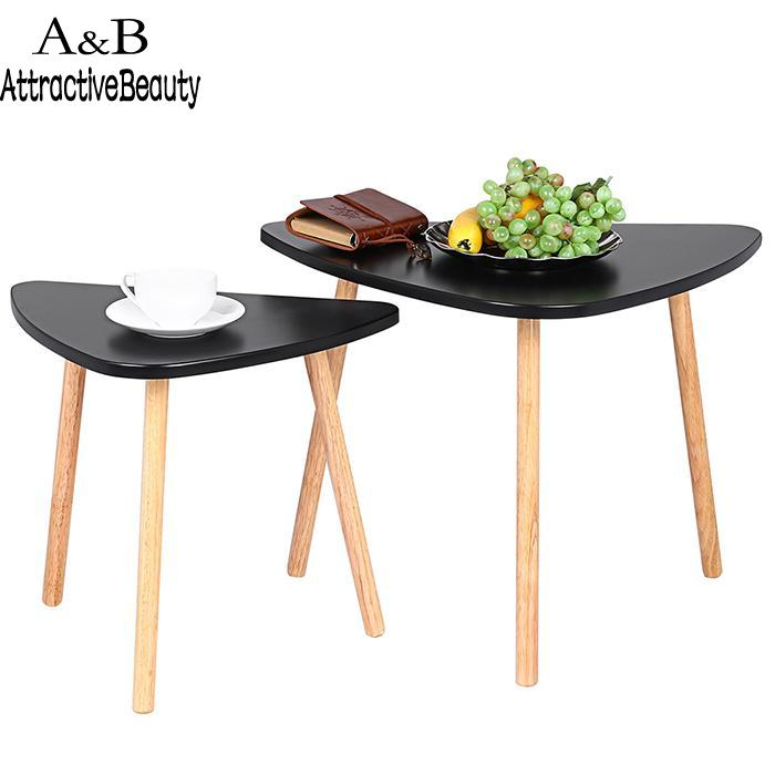 Coffee Simple Modern Wooden Triangle Shape New Table Living Room Furniture