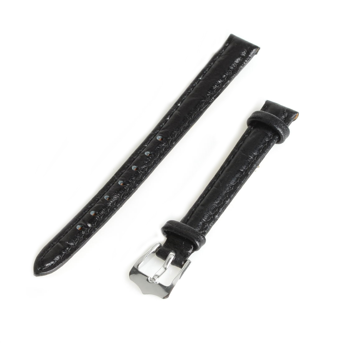 Hot Sell 2017 New Brand 10mm Genuine Leather Replacement Watch Band Strap Watchband Black SB0564