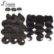 Шарики для волос Magadian для тела с волнистыми связями 3-го поколения с кружевным передним закрытием 100% человеческие волосы с дополнительным выдвижением волос Fontal Non Remy