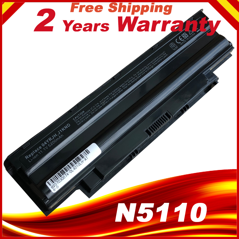 5200mAh laptop Battery j1knd for Dell Inspiron M501 M501R M511R N3010 N3110 N4010 N4050 N4110 N5010 N5010D N5110 N7010 N7110 2