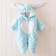 Newborn Baby Winter Clothes Fleece Baby Boy Clothes Animal Jumpsuit Baby Girl Rompers Baby 0-1 Years Old Climbing Clothing