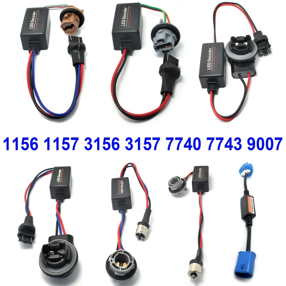 2pcs LED Decoder 3156/3157 Light Bulb Warning Canbus Error Free Load Resistor Socket For BMW For Benz DC12V CSL2017