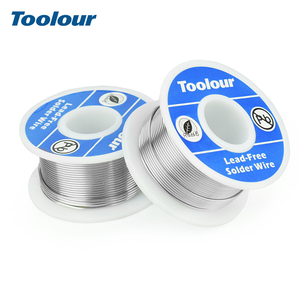 Toolour 2pcs/lot Lead-free Solder Wire 1mm Welding Iron Wire Reel FLUX 2.0% 45FT Tin Lead Tin Wire Melt Rosin Core Solder Wire