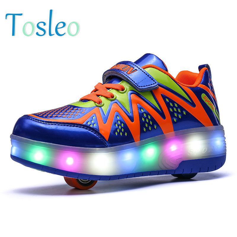 Luminous Shoes Kids Led Shoes With Wheels Light Shoes Girls Children