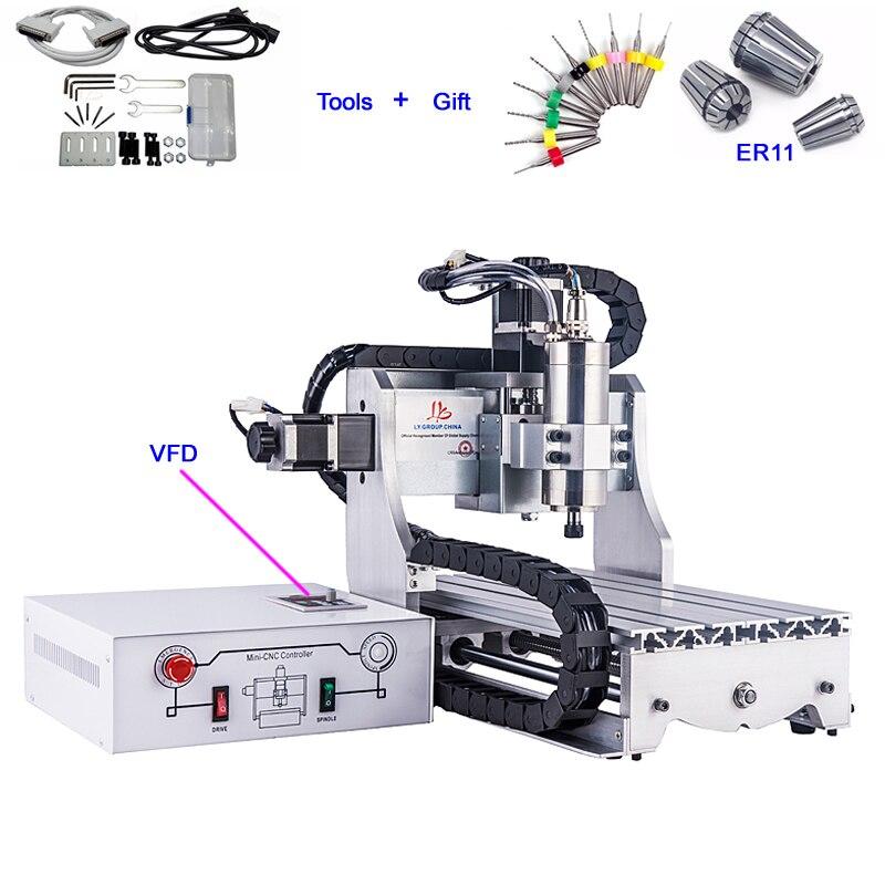 3 axes CNC Machine de gravure 3020 Z Mini routeur à bois 800 W broche de refroidissement par eau pour la coupe de métal