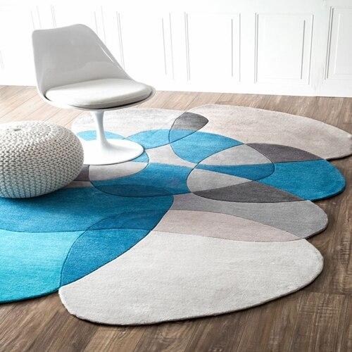 Необычный журнальный столик для гостиной, спальни, акриловые ковры ручной работы на заказ, ковры для гостиной, коврики для спальни - Цвет: 3