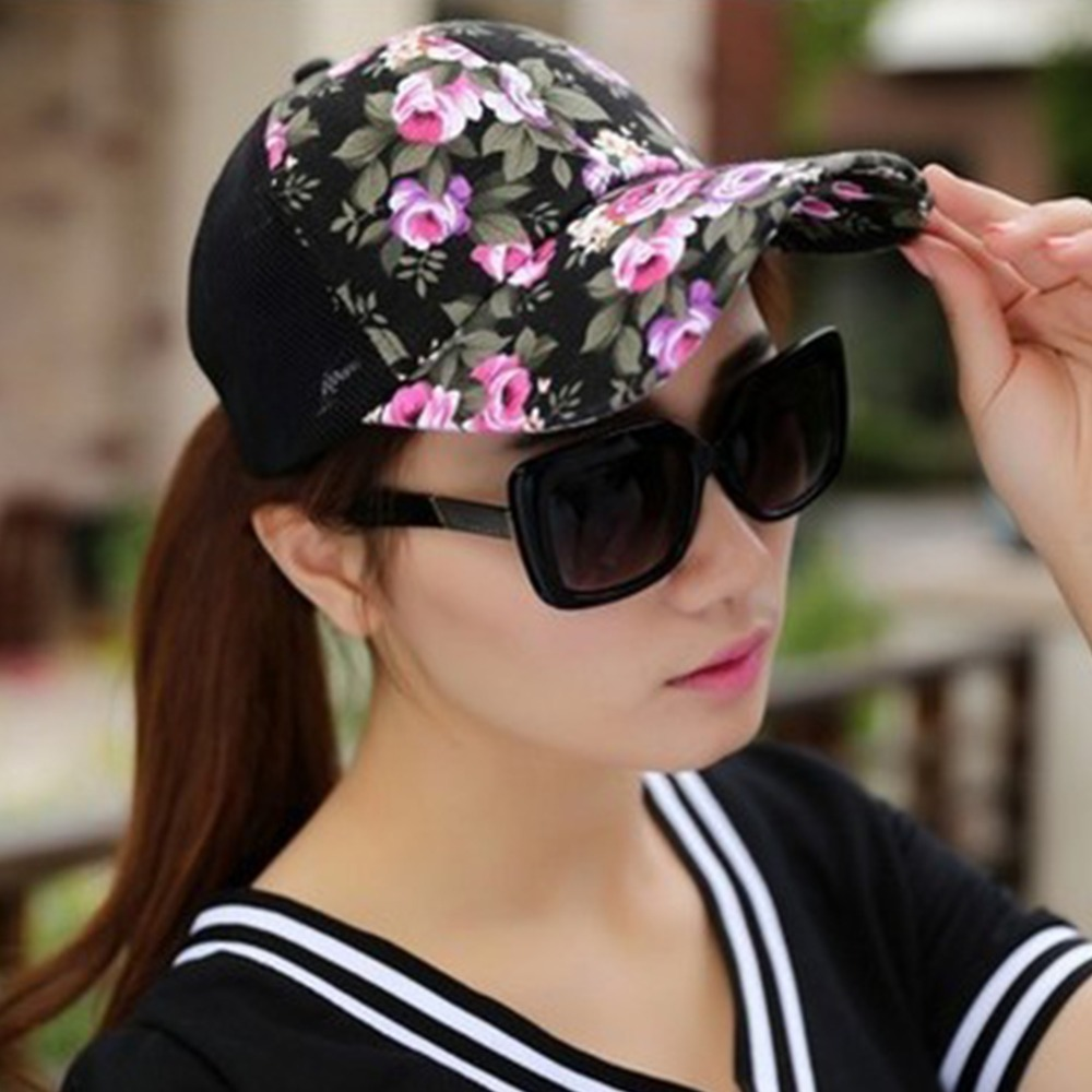 0522136b55b 1 pcs 2017 summer baseball caps for men snapback lids mesh breathable  casual floral adjustable hats women hats-in Baseball Caps from Apparel  Accessories on ...