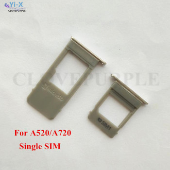 10PCS/Lot For Samsung Galaxy A520 A720 / A5 2017 A7 2017 Single & Dual SIM Card Tray Slot SD Card Holder Adapter Repair Parts