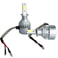 High Power 200W 20000LM H3 6500K White LED Light Super Bright Headlight Vehicle Car High Low