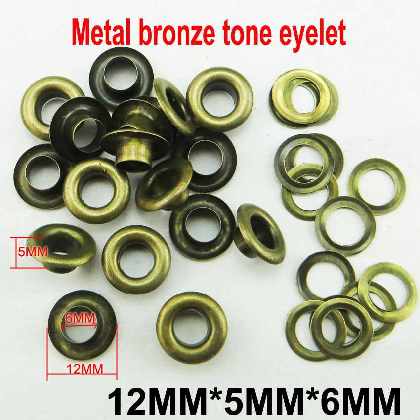 200pcs 12*6*6mm METAL gold eyelet round button BRAND clothes accessory leather bag shose fit ME-027