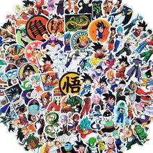 100 шт./лот, аниме, драконий жемчуг, наклейка s Super Saiyan Goku, наклейка s для сноуборда, багажа, автомобиля, холодильника, ноутбука, наклейка