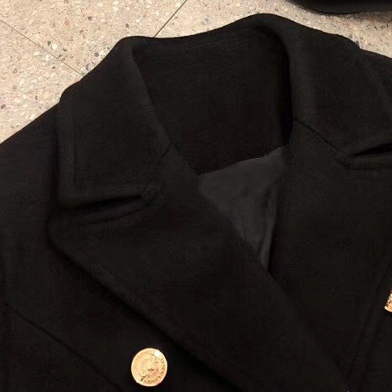 Bas Mode Manteau Nouveau Longues Manches 2018 Automne De Femmes Le Tournent Long Mélanges Pour Vers UqOE0O