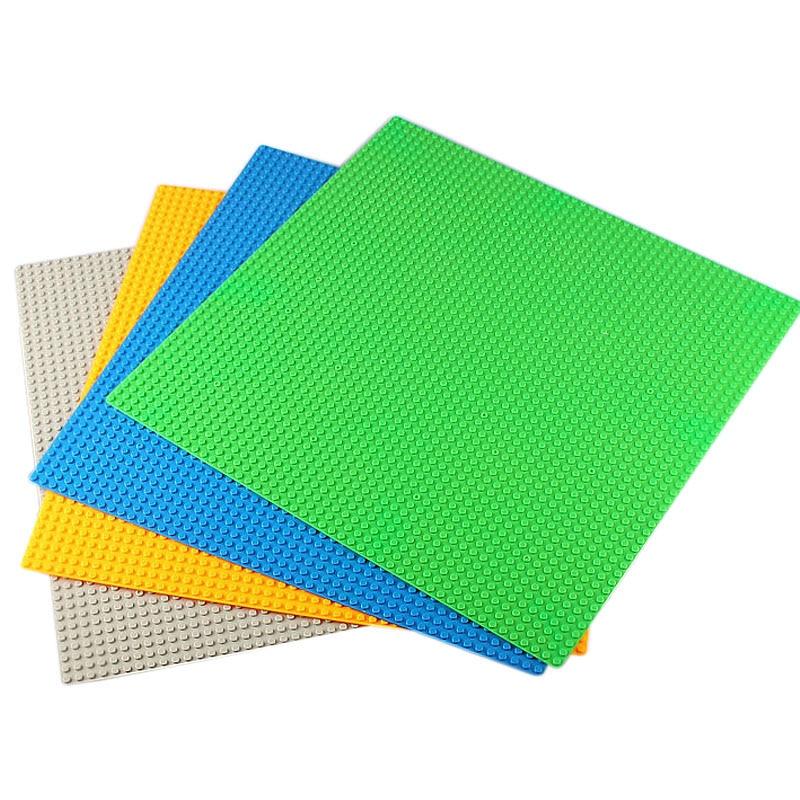 Galleria fotografica 48*48 Dots Base Plates Compatible <font><b>LegoINGlys</b></font> <font><b>Technic</b></font> Building Blocks DIY Baseplate Large Square Plastic Floors Bricks for Kids