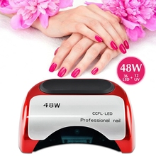 48W Professional CCFL LED UV Lamp Light Nail Dryer for Nails Gel Polish Automatic Home Work Nail Dryer Art Manicure Hand Sensor