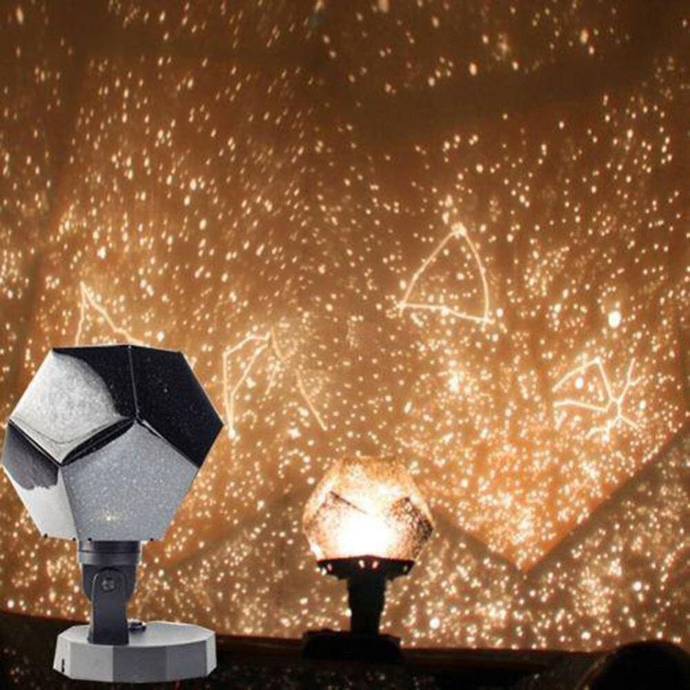 Celestial Star Sky Projection Cosmos Night Lights Projector Night Lamp Star Romantic Bedroom Decoration Lighting AA Battery-in LED Night Lights from Lights & Lighting