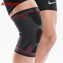 лучшая цена Kuangmi Elastic Warm knee sleeve Running Knee Support Sports Brace Volleyball Knee Pad Basketball Joint Pain Relief Protector