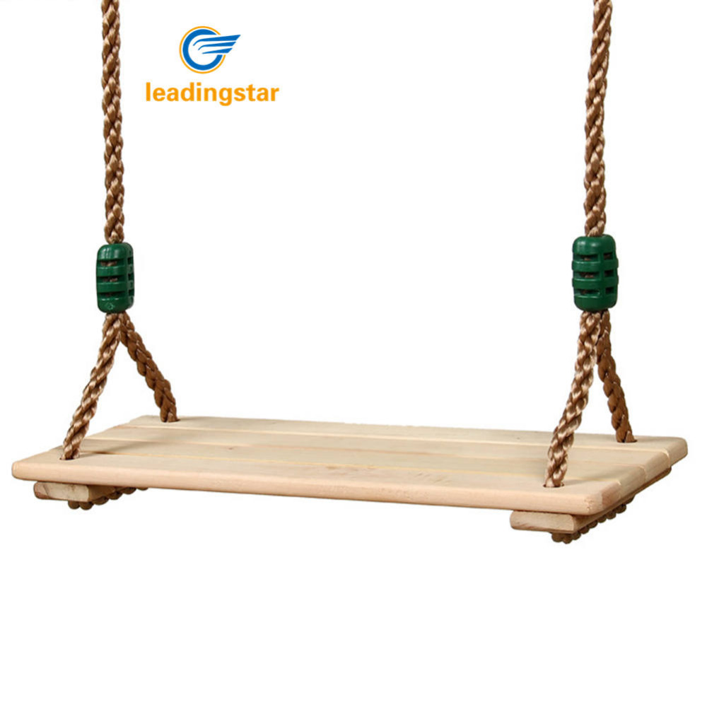 LeadingStar Classic Wooden Swing Seat with Strong Swing Rope Height-adjustable Hanging Swing for Indoor Outdoor  пандора браслет с шармами