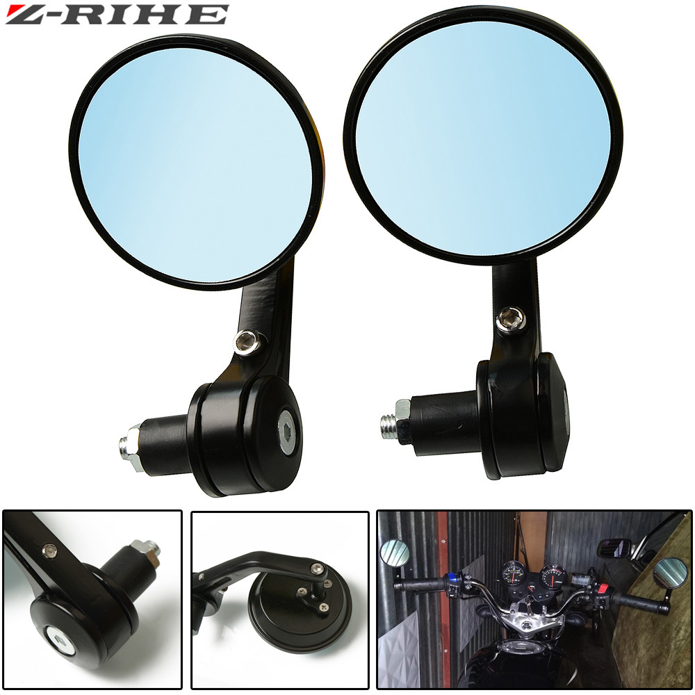 "7/8"" Handlebar Aluminum Alloy Motocycle Rearview Mirrors Moto End Motor Side Mirrors Motorcycle Accessories"