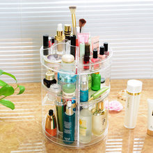 360 Degree Adjustable Rotating Makeup Organizer Cosmetic Rack Plastic Lipstick Shelf Storage Nail Polish Holder Combination(China)