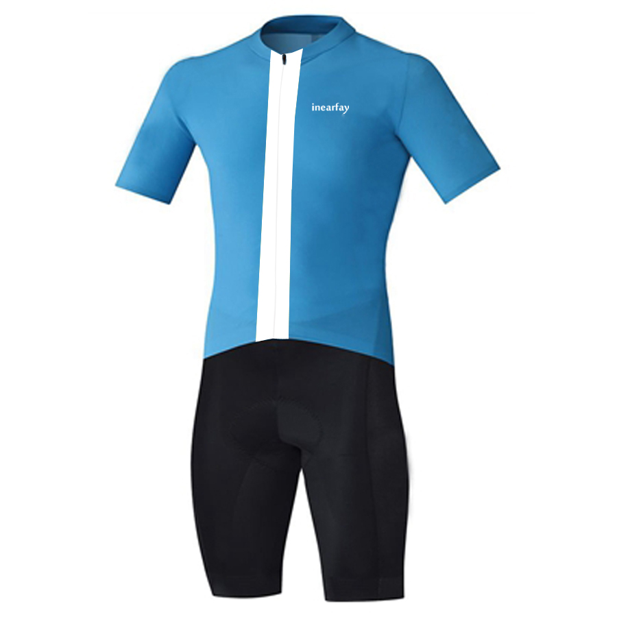 2bb6e39104b Triathlon suit With 9D Gel Pad cycling Clothing Short Sleeve One Pieces  Cycling Skinsuit Blue-in Cycling Sets from Sports   Entertainment on  Aliexpress.com ...
