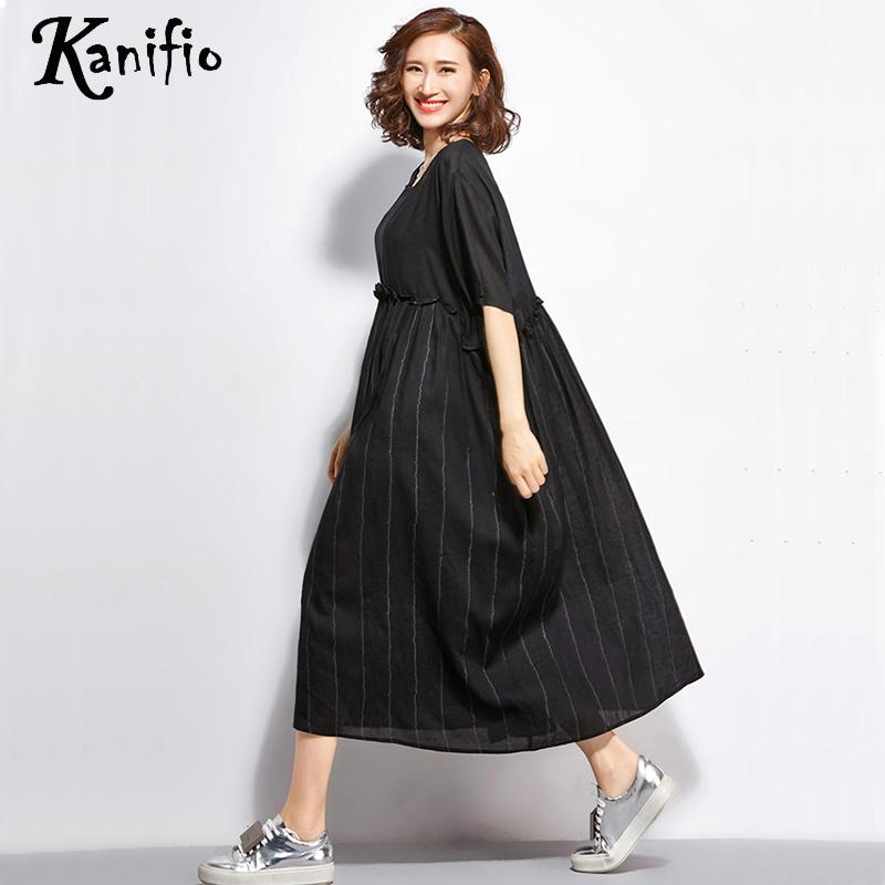 04d912009c4 Kanifio Brand Plus Size Women Black Dress Ladies Casual Patchwork Dresses  Female Loose Long Shirt Tunics Pullover Vestidios 5XL-in Dresses from  Women's ...