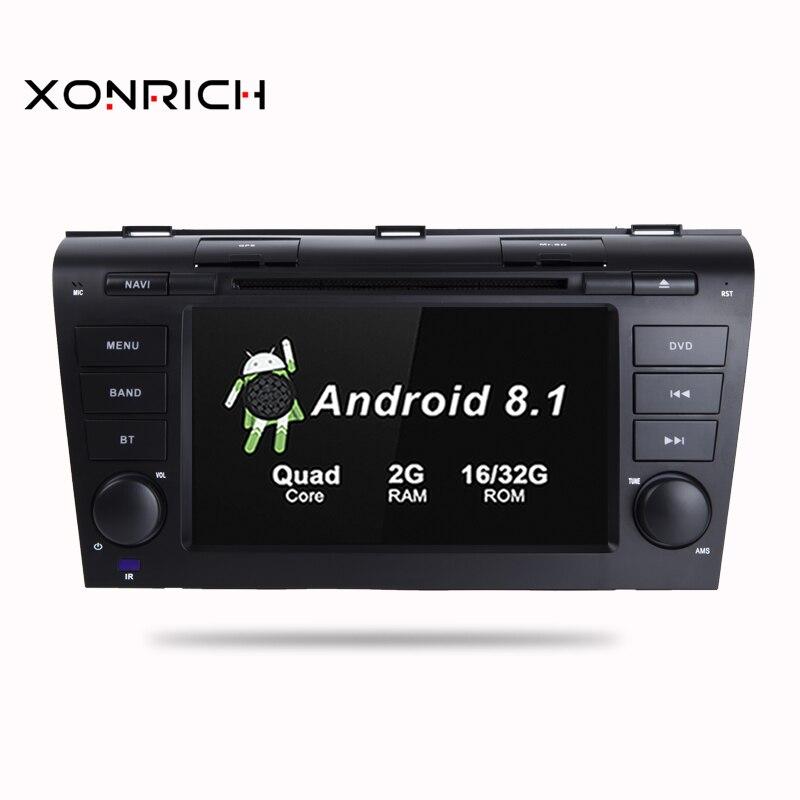 Quad Core 2 GB di RAM Android 8.1 Navigazione Dell'automobile DVD GPS Multimedia Player Car Stereo per MAZDA 3 2004- 2009 Radio Headunit IPS OBD
