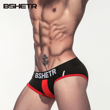 BSHETR Brand 2017 Underwear Men Soft Briefs Cotton Male Panties Slip Cueca 4 Color New Design Gay Underpants Fashion Pants