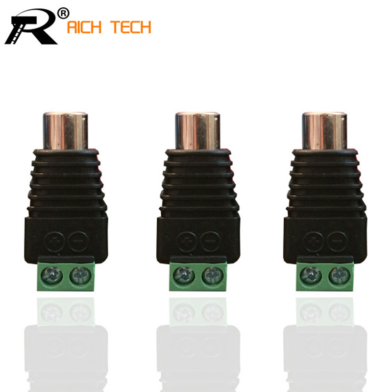3PCS/LOT AV BALUN PHONO RCA JACK CONNECTOR CAT5 TO CCTV CAMERA RETAIL TERMINAL BLOCK TO RCA JACK ADAPTER купить