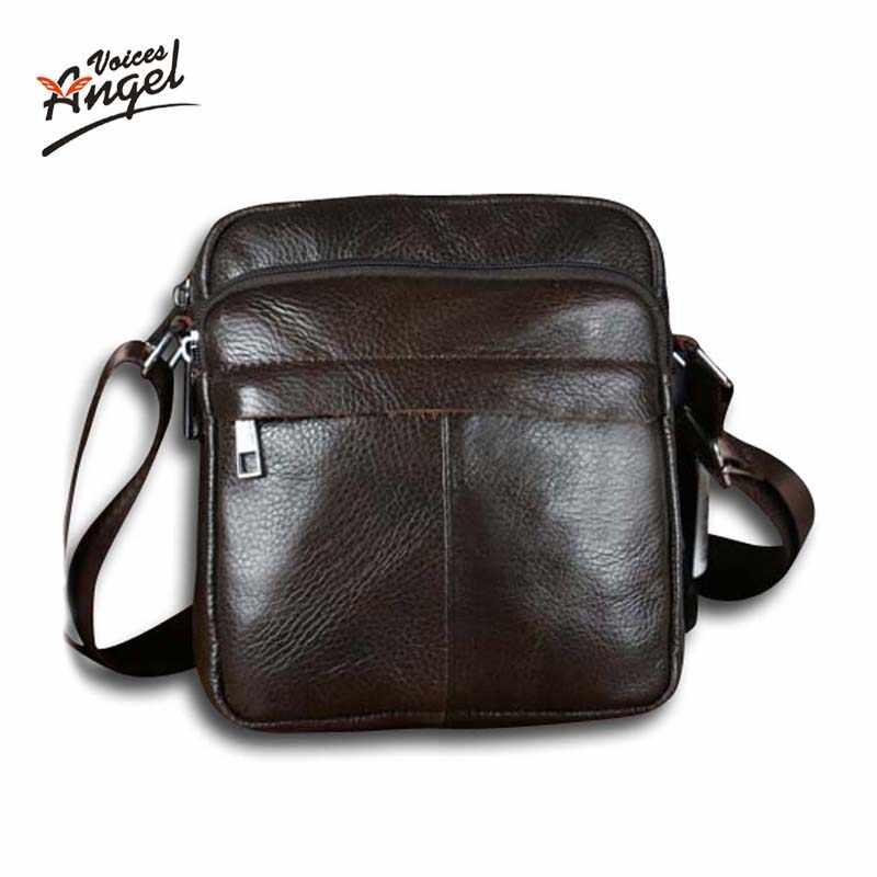 ada141dc8709 Горячая Распродажа Новая мода натуральная кожа мужские сумки маленький сумка  мужская сумка Кроссбоди