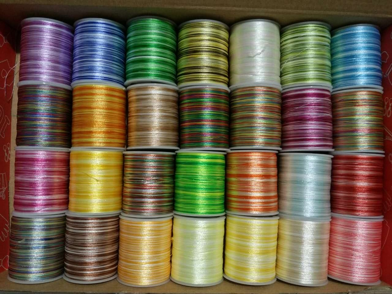 108d2 28pcslot Coloured Polyester Embroidery Thread Sewing
