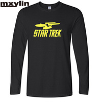 Autumn And Winter Star Trek New Fashion Print Man Long Sleeve T Shirt 3d Star Trek