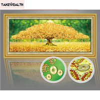Diamond Embroidery 5D Diy Round Diamond Painting Money Tree Cross Stitch Kits Special Shaped Home Decoration