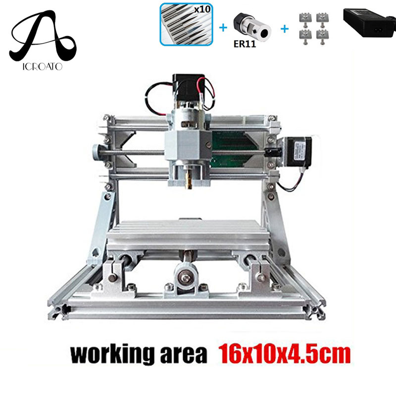 CNC 1610 500mw GRBL Control Diy Mini CNC Machine,Working Area 16x10x4.5cm,3 Axis Pcb Milling Machine,Wood Router,CNC Router grbl control diy 1610 mini cnc machine wood carving machine 3 axis pcb milling machine wood router arduino cnc router dhl ship