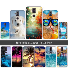 Phone Case For Nokia 8.1 2018 Fashion Scape Painted Luxury C