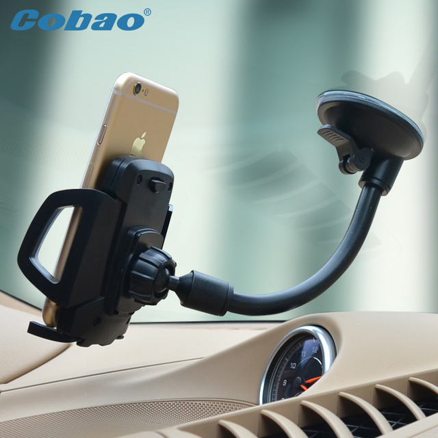 Universal Mobile Phone Holder Long Arm Car Windshield Mount Cradle Suction Cup Stand Soporte Movil Iphone 6 6s