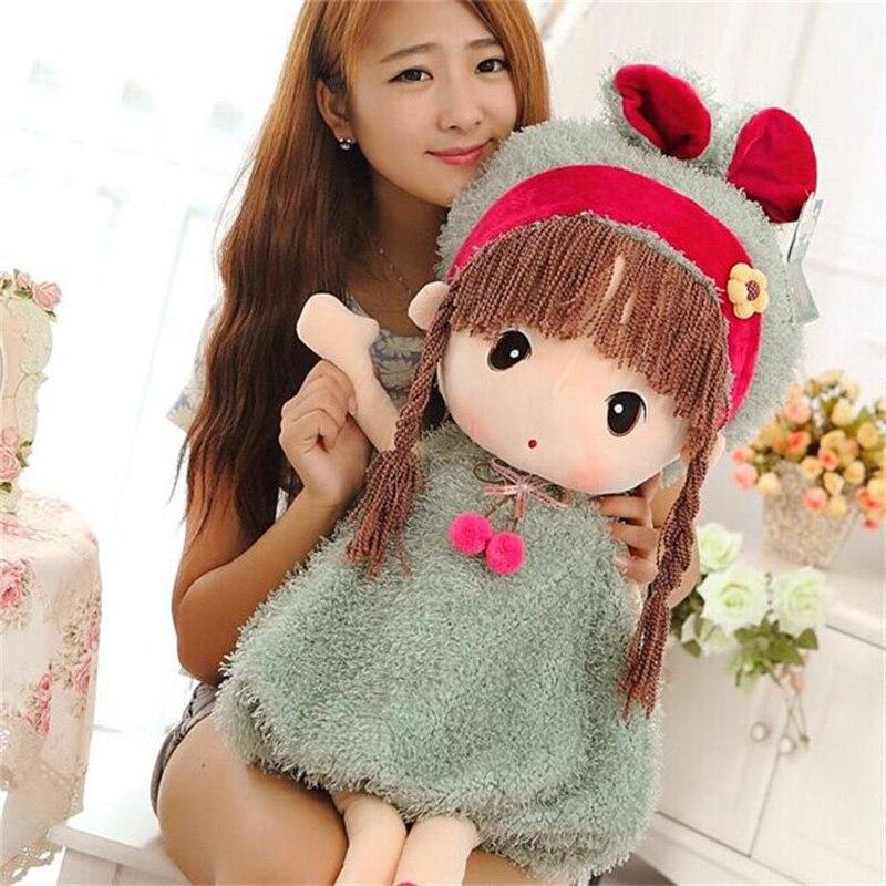 1pc 45cm New Soft fashion girls Stuffed Dolls Plush Phyl Wedding Rag Doll Cute toys Sweet Model Girls Kids Birthday Gift