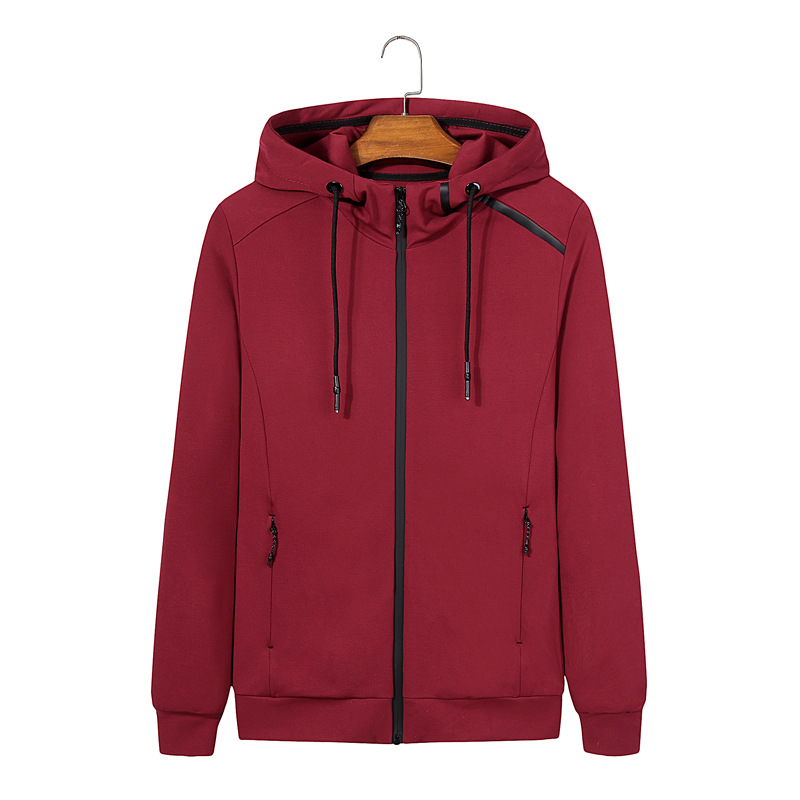 Spring and autumn men's wear jackets and jackets and jackets, knitted stretch cardigans and hoodies