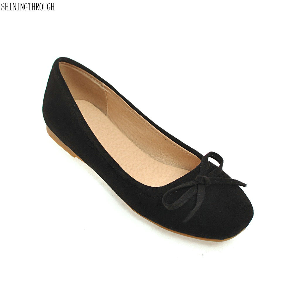 New Women Shoes Flat Boat Shoes Spring Ladies Bow Ballet Flats Autumn Slip On Square Toe Casual Shoes hot sale shoes new fashion spring women flats shoes bow toe slip on flat women s shoes plus size 36