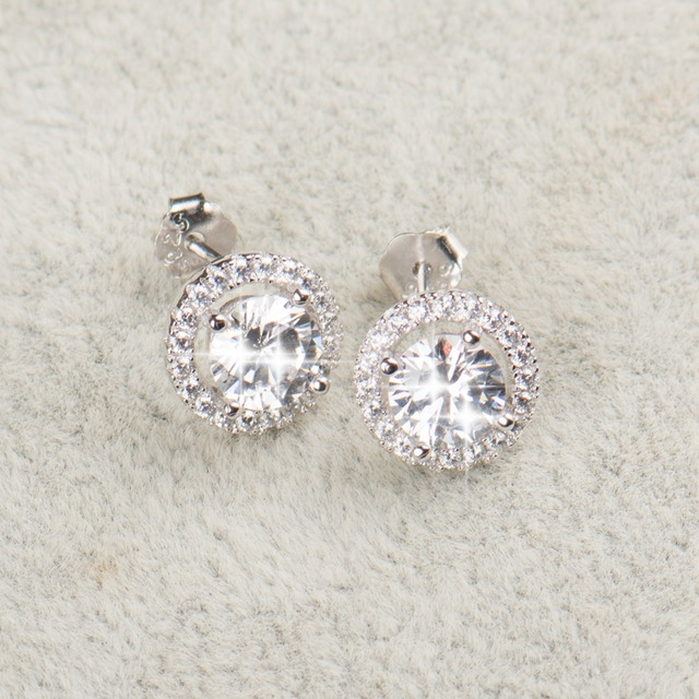 925 Sterling Silver Earrings Ring Necklace Bridal Jewelry Set