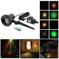 8 Big Patterns Christmas Remote Outdoor RG Laser Lights Projector Waterproof Snowflake Xmas Tree Garden Decoration