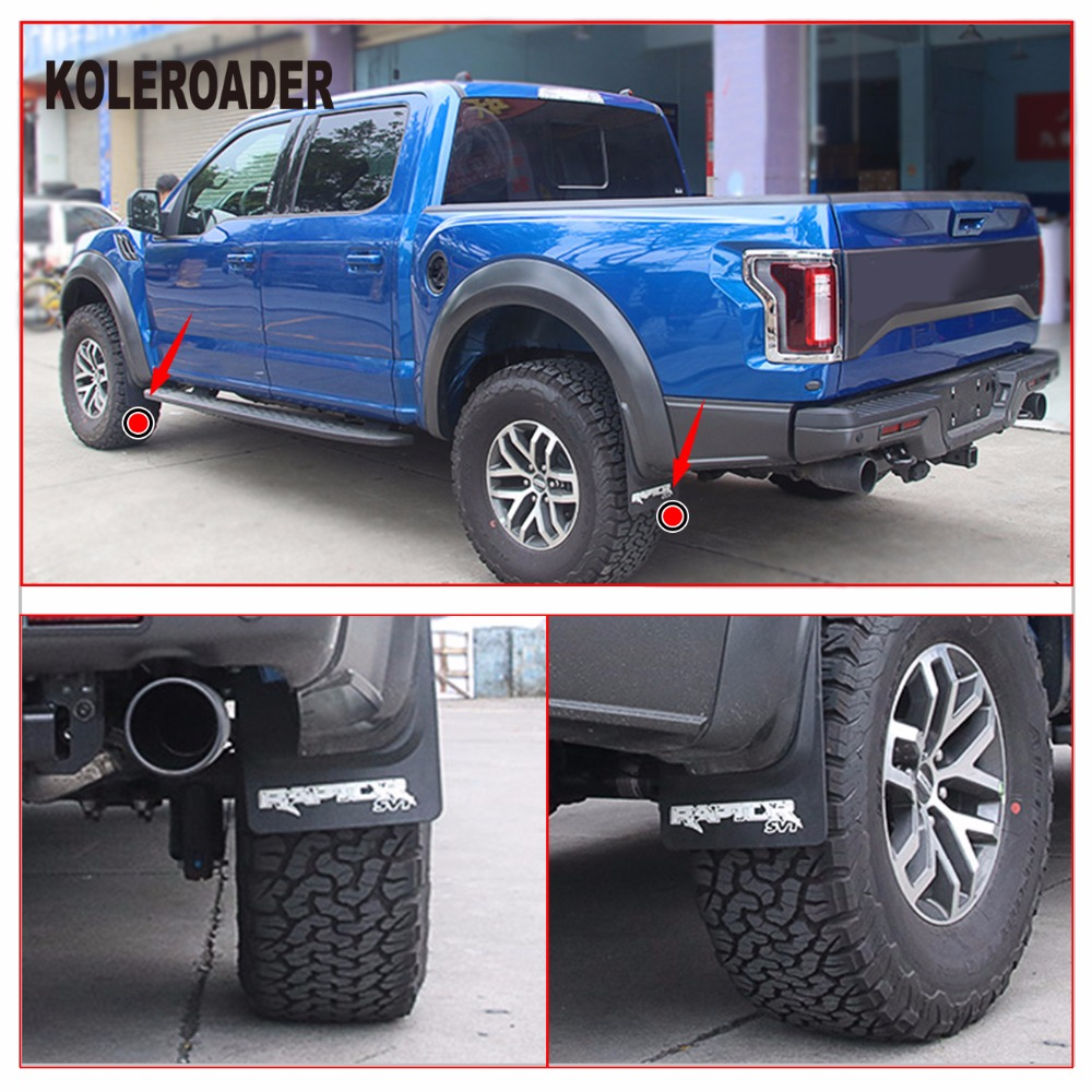 Front Rear Molded Splash Guards Mud Flaps For Ford F Svt Raptor   In Mudguards From Automobiles Motorcycles On Aliexpress Com Alibaba Group