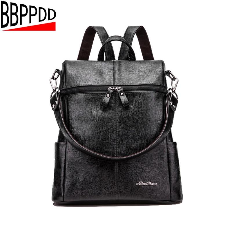 2018 Multifunctional bag Women Backpack High Quality PU Leather Bucket Type Shoulder Bag Big Travel Backpacks out bag backpack women backpack women bag leather bag shoulder bag pu travel backpack
