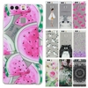 TPU Soft Cases 5.2For Huawei P9 case for Huawei Ascend P9 Transparent Printing Drawing Silicone Phone Cases Cover