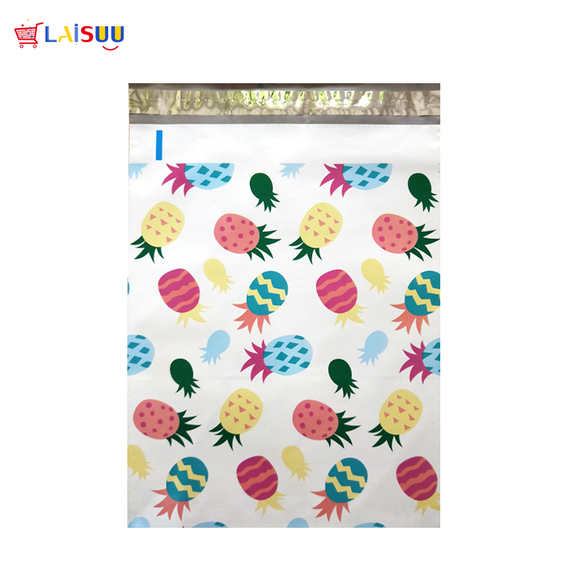 все цены на 50 pcs 26x33cm 10x13 inch Pineapple White Pattern Poly Mailers Self Seal Plastic Envelope Bags / Jiffy mailing bags онлайн