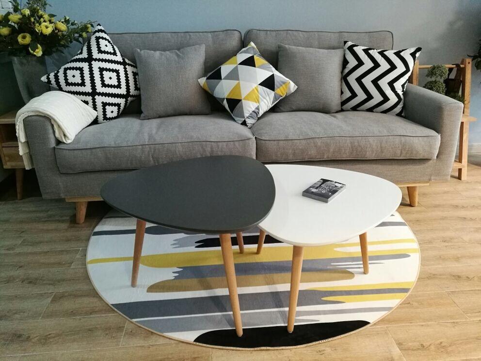 Liu Nordique Moderne Simple Raye Carpet Salon Table Basse Chambre