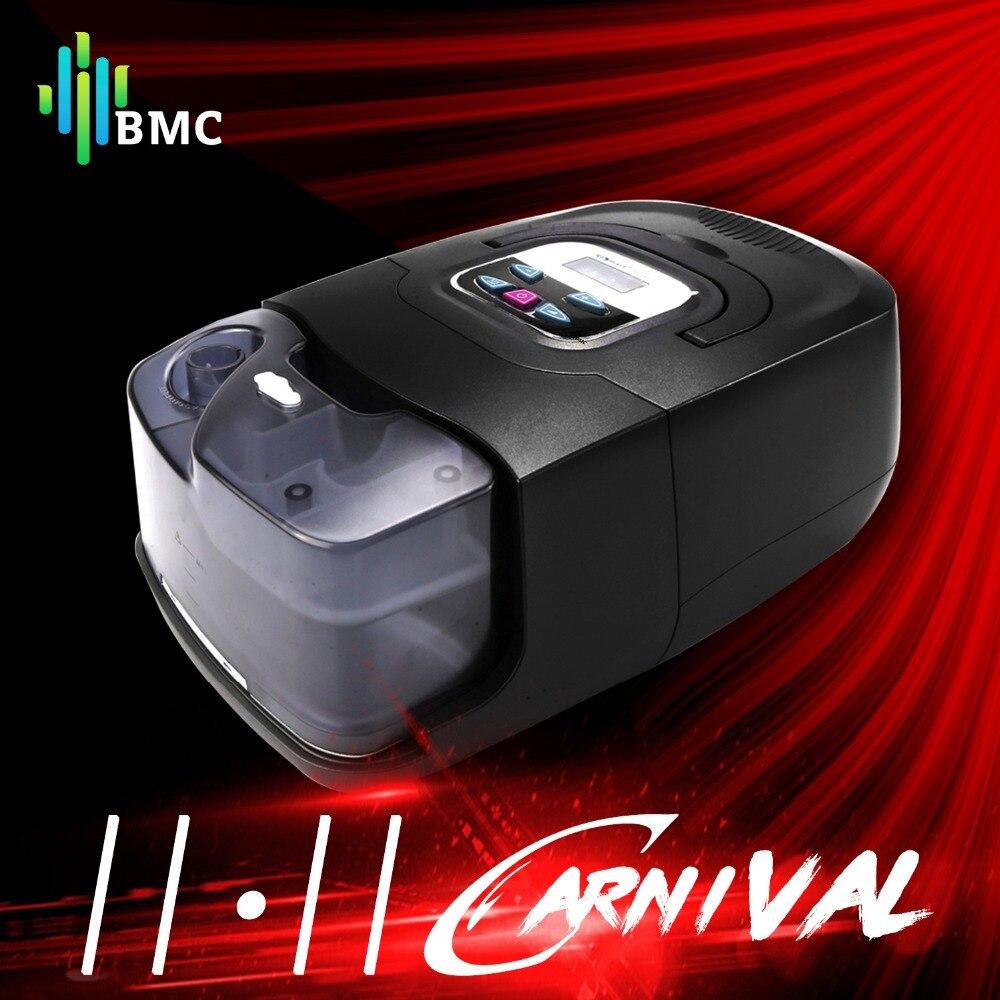 BMC GI Auto CPAP máquina negro Shell Smart Home Care respirador para sueño ronquido Apnea terapia con humidificador máscara de manguera