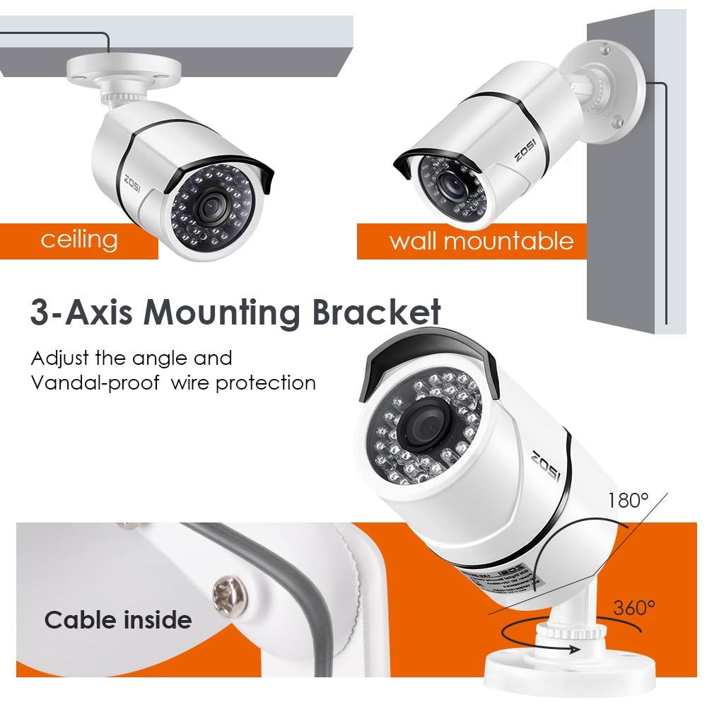 ZOSI 8CH CCTV System 1080P HDMI TVI 8CH DVR 8 STKS 2.0 MP IR - Sikkerhet og beskyttelse - Bilde 3