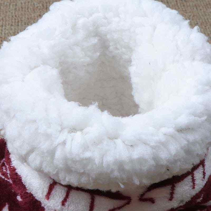 Mùa Đông Giày Người Phụ Nữ Dép Đi Trong Nhà Giáng Sinh Nai Sừng Tấm Trong Nhà Vớ Giày Ấm Contton; Trơn Sang Trọng Đế Chống Trượt Đế Botas mujer