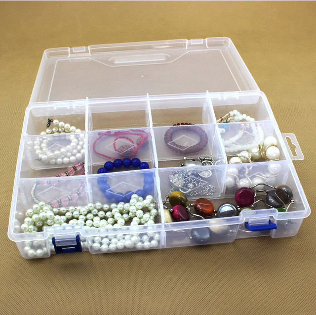 10 Units Transparent Removable Plastic Storage Cases Ring Beads