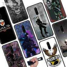 Halo UNSC Black Soft Case for Oneplus 7 Pro 7 6T 6 Silicone TPU Cell Mobile Phone Cases Cover Coque Shell